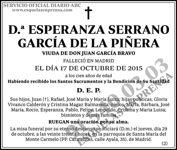 Esperanza Serrano García de la Piñera